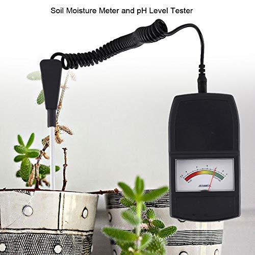 Bodentester 2 in 1 Boden Feuchtigkeit PH Messgerät mit Einzelsonde für Pflanzen Wachstum Rasenpflege Gartenbau