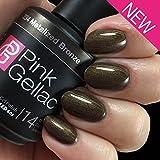 Pink Gellac UV Nagellack 234 Metalized Bronze. Professionelle Gel Nagellack shellac für mindestens 14 Tage perfekt glänzende Nägel