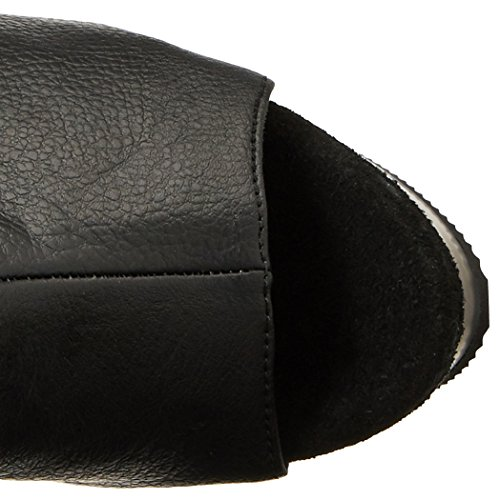 Pleaser DEL3019/B/PU, Stivali Alti Donna Nero (Black (Blk Faux Leather/Blk))