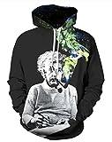 FOURSTEEDS Damen Sweatshirt Gr. Large, Einstein Smoking