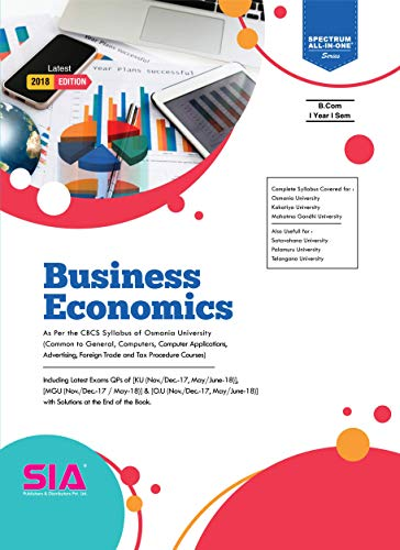 Business Economics, B.Com I-Year I-Sem (O.U) Latest 2018 Edition