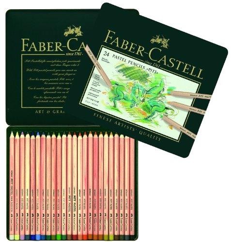 faber-castell-112124-estuche-de-metal-con-24-ecolapices-pitt-pastel-multicolor