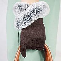 LCCU Guantes Guantes Cortos para Mujer De Winter Warm con Lady Warm Driving Wrist Guantes Guantes, Tamaño Libre Marrón