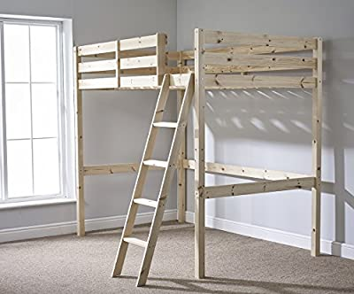 Double 4ft 6 Loft bunkbed - wooden High Sleeper