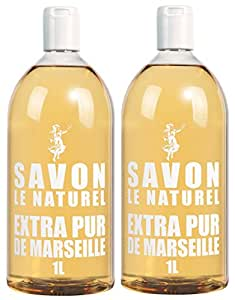 Savon Le Naturel - Extra Pur de Marseille Recharge Universelle - 1 L - Lot 2