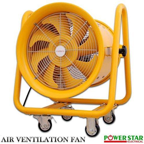 Tragbar Industrie Ventilator Auspuff Axial Gebläse Extractor Explosion Proof (EX) ausgestattet und Fan mit Kabelkanal 45,7cm - , 18 Zoll Ventilator und Schlauch