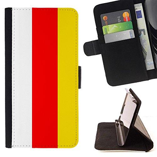STPlus Südossetien Flagge Leder Hülle Case Brieftasche Schutzhülle für Alcatel Pixi 4-5