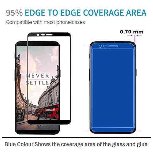 CZAR Duraglass OnePlus 5t / One Plus 5t / OP5t Tempered Glass Screen Guard by: Kolostahl – Edge to Edge Coverage – Case friendly – High Drop Protection – Smoothest Tempered Glass with Anti Fingerprint Coating Screen Protector