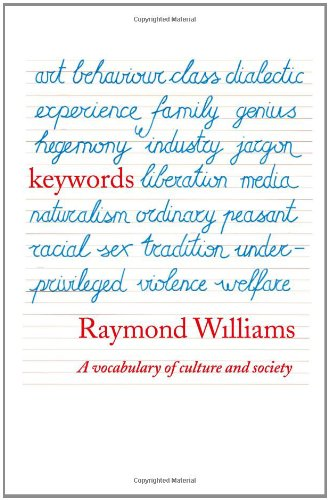 Keywords: A Vocabulary of Culture and Society par Raymond Williams