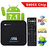 TV Box Android 7.1 - VIDEN Smart TV Box Amlogic S905X Quad Core, 1GB RAM & 8GB ROM, 4K*2K UHD H.265, HDMI, USB*2, 2.4GHz WiFi, Web TV Box, Android Set-Top Box + Control Remoto
