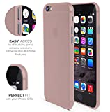 Coque pour Iphone 6 Transparente Ultra-Fine 0,35 mm et Anti-Rayures , Coque pour Iphone 6S , Housse pour Iphone 6S , Housse pour Iphone 6 , RED CANARY , [GARANTIE À VIE] Rose Gold