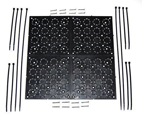 Für Rv Tv-halterungen (aus den Augen Klammern Universal, verstellbare Halterung Kit Mit Kabel Organizer für Flat Panel TV, unter Schreibtisch Draht, Management, Verstecken Bindekordeln & More 4er Pack (schwarz))