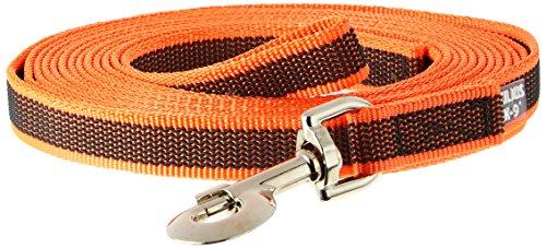 Julius-K9 Laisse De Sport Anti-Glisse Avec Poignée Pour Chien, Orange Fluo, 5m X 20mm Pour Chien Avec Poignée Orange Orange Fluo Autre