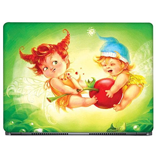 Crazyink Baby Angel Playing Laptop Skin Stickers - 13 To 14 Inch