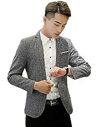 Insun Herren 1 Knopf Design Freizeit Sakko Sportlich Party Blazer Club Sweatjacke Formell Lässig Anzug