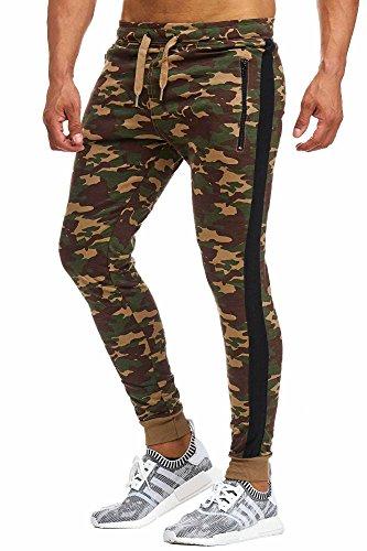 BELLIS® Herren Jogginghose with Stripe waist Camo Edition / S-XXXL / T-00012 Camel-Camo