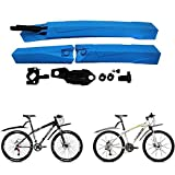 #8: Generic Black : Light weight Plastic Bike Folding Mountain Road Bike Front and Rear Mudguard Set Bicycle Bicycle Fenders Splash Guard Black