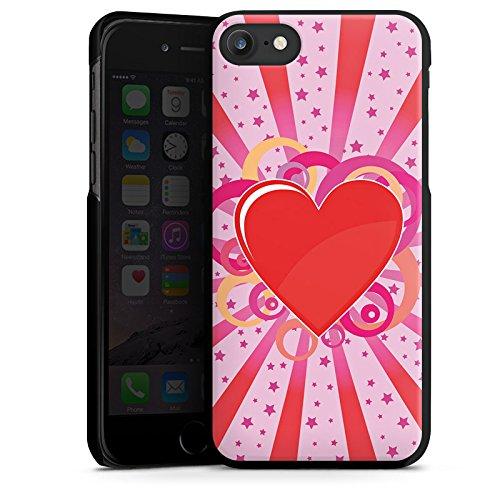 Apple iPhone X Silikon Hülle Case Schutzhülle Herz Muster Bunt Love Explosion Hard Case schwarz