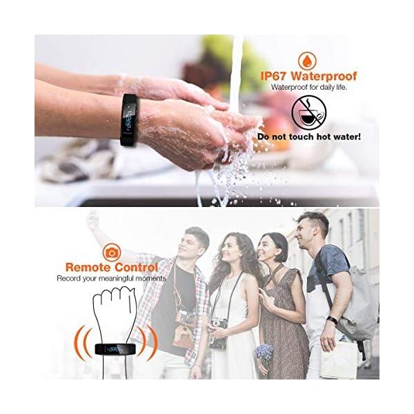 ELEGIANT Pulsera de Actividad Inteligente Reloj Deportivo IP67 para Hombre Mujer con GPS Monitor de Sueño Podómetro… 7