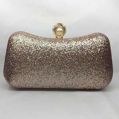 pwne Frauen Abend Tasche Metal All Seasons Event / Party Hobo Push Lock Silber Schwarz Gold Champagne Champagne