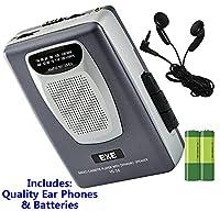 Retro Portable Personal Cassette Tape Player & Radio - inc Earphones �?? Built-In Speaker - inc Batteries (Exe VS-38 Package) (Space Grey (Inc Batteries))