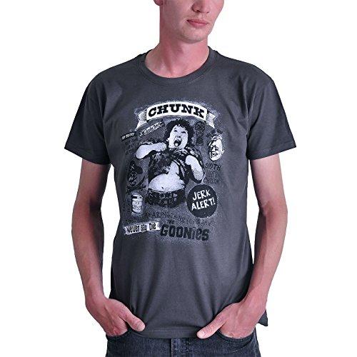 Goonies Chunk T-Shirt Baumwolle grau von Elbenwald - S