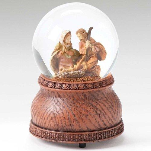 ige Familie Krippe Weihnachten Musical 80mm Glitterdome Schneekugel ()