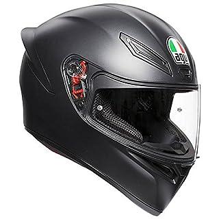 AGV 0281A4I0_003_MS K1 E2205 Helm SOLID- MATT BLACK, Schwarz, Größe MS