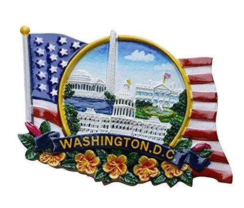 ten Staaten Kunstharz 3D bemalt Kühlschrank Magnet Souvenir, Washington Dc (Washington Dc-souvenirs)