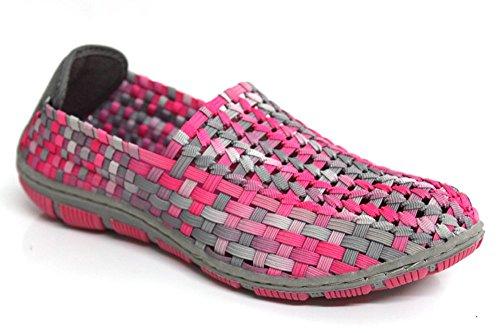 Adesso Layla pour femme Rose Fusion Casual légère d'été Chaussures Taille 3–8 Rose