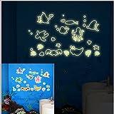 Jardín de infantes los niños noche luz pared pegatinas elegante combinación de pegatinas fluorescentes , 21cm*29.7cm-YU&XIN