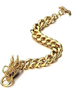 Maskulinen Stil Gold Drachen Panzerkette-Armband Herren Armband Edelstahl-Armband Poliert