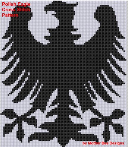 Polish Eagle Cross Stitch Pattern (English Edition)