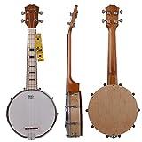 Kmise banjo Ukulele banjo lele 4 corde Ukulele Uke Concerto 23 pollici Dimensioni legno di acero
