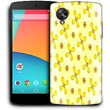 Snoogg Flores amarillas Funda Carcasa de diseño para LG Nexus 5