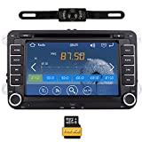 Telecamera di retromarcia + Car DVD GPS Radio Player Windows CE 8.0 UI per il VW Volkswagen Jetta Passat CC Tiguan Polo Golf Skoda 7 pollici in precipitare GPS di navigazione stereo MP3 Player con TV analogica e libero 8GB Mappa Card & Canbus sistema