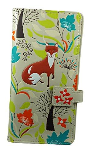Shagwear portafoglio per giovani donne , Large Purse : Diversi colori e design : (Foresta Volpi / Forest Foxes)