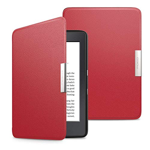 MoKo Kindle Paperwhite Hülle - Ultra Leightweight Slim Schutzhülle Smart Cover mit Auto Sleep / Wake Funktion für Alle Kindle Paperwhite (2016 / 2015 / 2013 Modelle mit 6 Zoll Display), Nicht Kompatibel für All-new Paperwhite 10th generation 2018, Rot