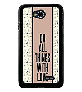 PrintDhaba Quote D-3833 Back Case Cover for LG L90 (Multi-Coloured)