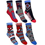 6er Pack Spiderman Jungen Socken 23 - 26