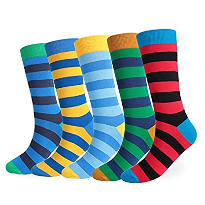 Monbedos Men'S Socks Yellow Blue Striped Pattern Cotton Mansocks Warm Socks For Protecting Men And Women'S Feet 1 Pair 2