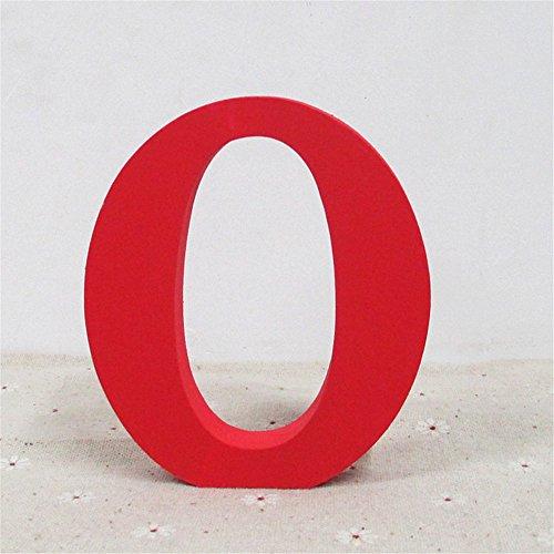 staben Red Alphabet Hochzeit Geburtstag Party Home Decorations DIY die Wörter, die Sie wünschen (O) (Red Letter-ballons)