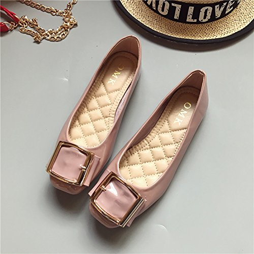 WYMBS Le cadeau le plus intime Le nouveau chef du parti à plat avec un fond plat chaussures chaussures unique des arrangements pour de plus grandes chaussures femmes Pink