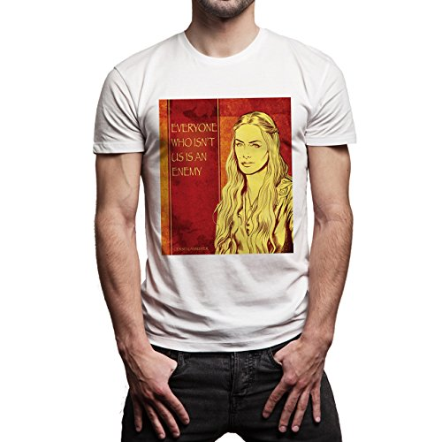 Cersei Lannister Quotes Game Of Thrones Everyone Who IsnÕt Us Is An Enemy Herren T-Shirt Weiß