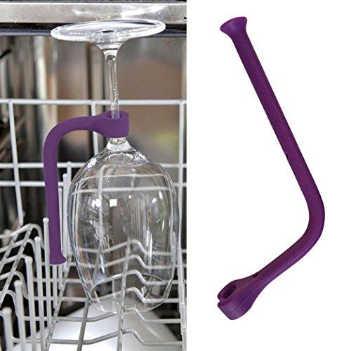 BZLine® 1/2/4 PCs anpassen Silikon Wein Glasgeschirr Spüler Becherhalter Safer Gläsern Saver (1PC)