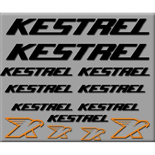 SUPERSTICKI Kestrel Sponsorset 308 ca 30cm Motorrad Bike Fahrrad Mountain Aufkleber Bike Auto Racing Tuning aus Hochleistungsfolie Aufkleber Autoaufkleber Tuningaufkleber Hochleistungsfolie (Bike Kestrel)