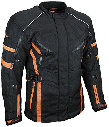 *Herren Touren Motorradjacke Textil Heyberry schwarz orange Gr. XXL*