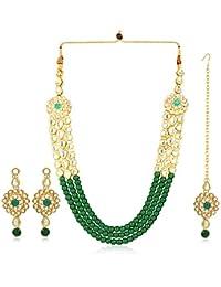 Karatcart 22K GoldPlated Kundan Necklace for Women