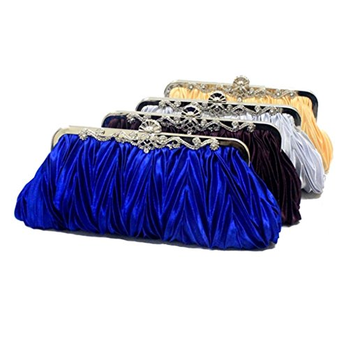 ERGEOB® Donna Clutch sacchetto di sera borsetta Clutch piccola rasotaschino Banchetto taschino matrimonio taschino Borsa della sposa azzurro