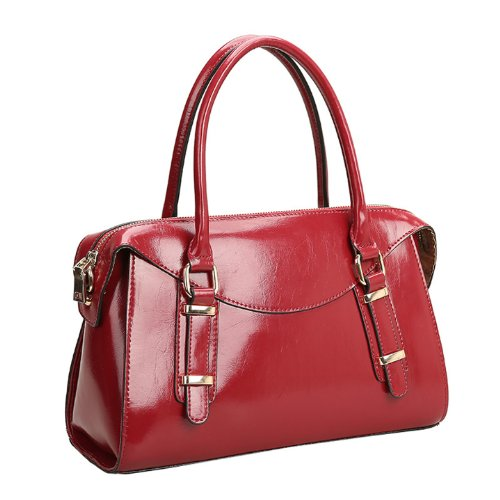 Dissa Q0437 donna Borse a spalla,Borse a tracolla32x20x13 cm (B x H x T) Red